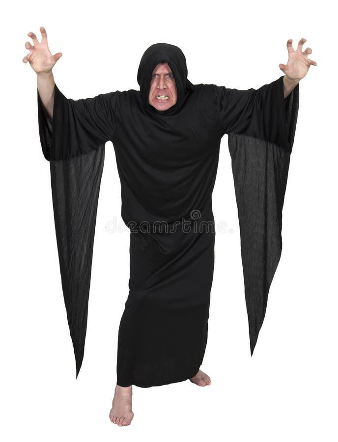邪恶的神秘的巫师魔术师向导查出 免版税库存照片