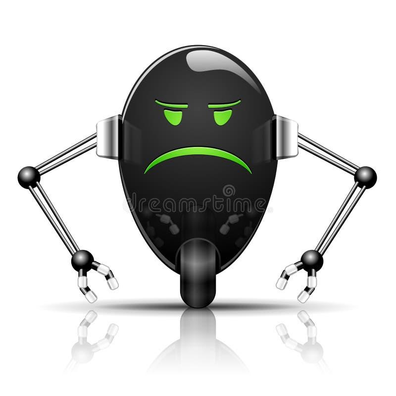 邪恶的蛋机器人 向量例证