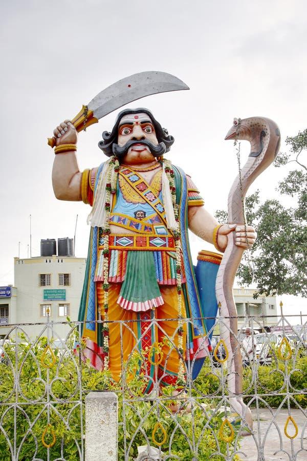 邪魔Mahishasura,迈索尔的雕象 免版税库存照片
