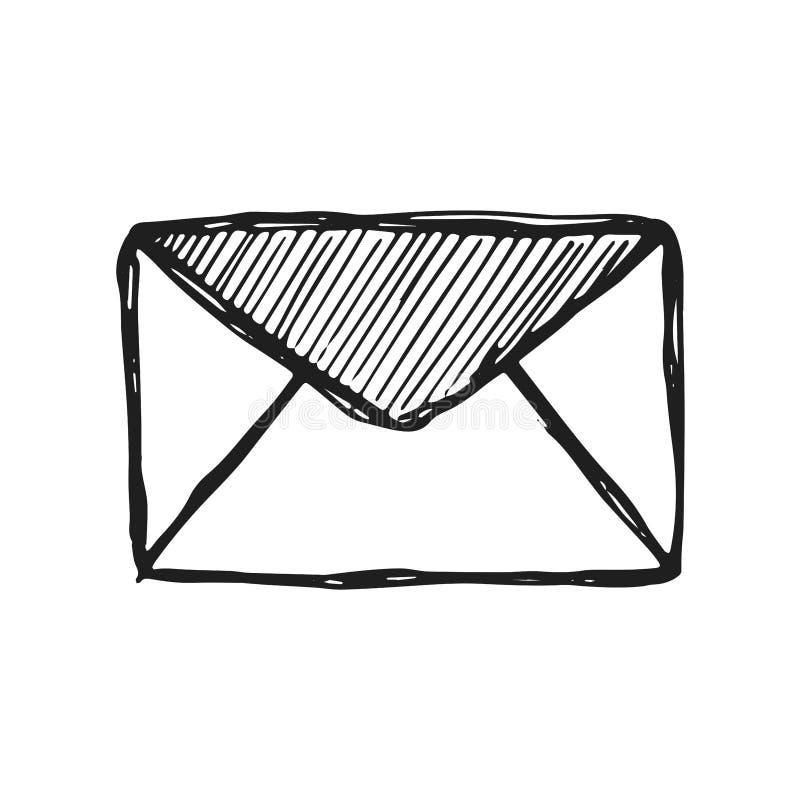邮件信封象传染媒介剪影 手被绝缘的图画 皇族释放例证