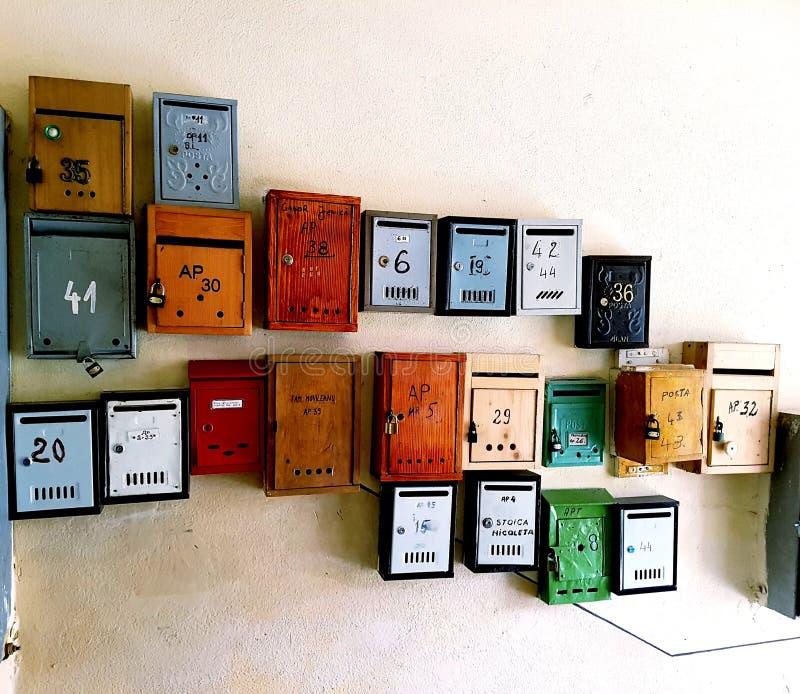 邮件把艺术装箱 免版税库存图片