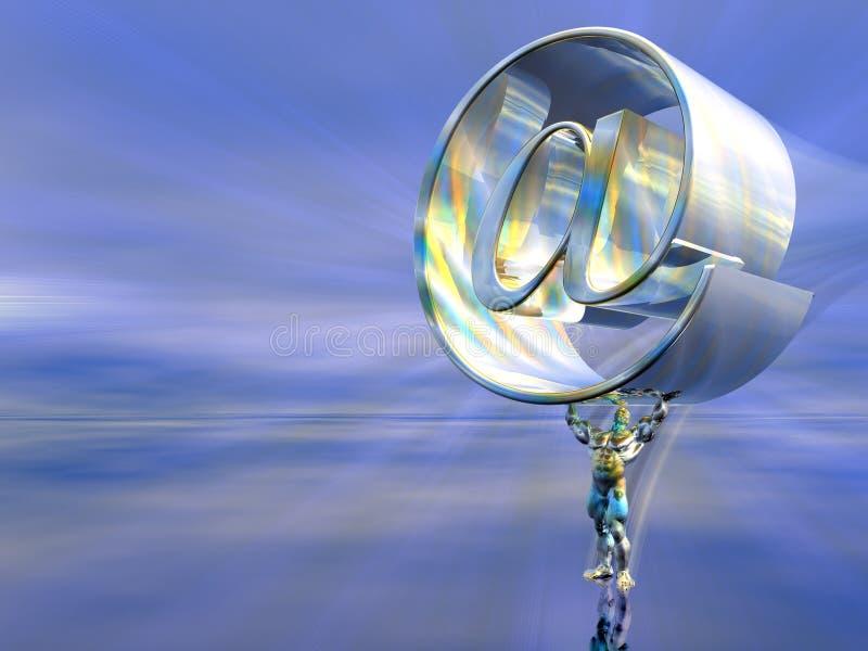 邮件提供者服务器 库存例证