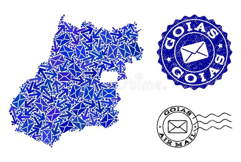 邮件方式结构的戈亚斯状态和难看的东西封印军用镶嵌地图  皇族释放例证