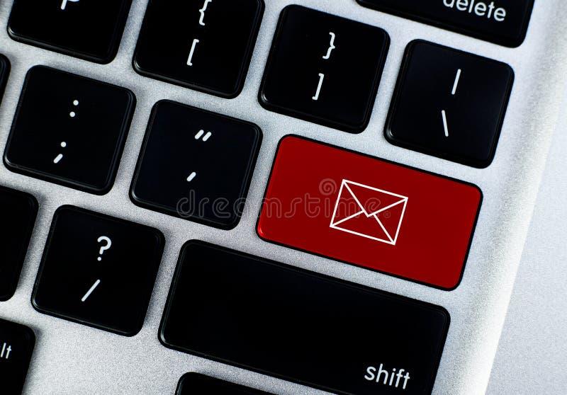 邮件概念按钮 免版税库存照片