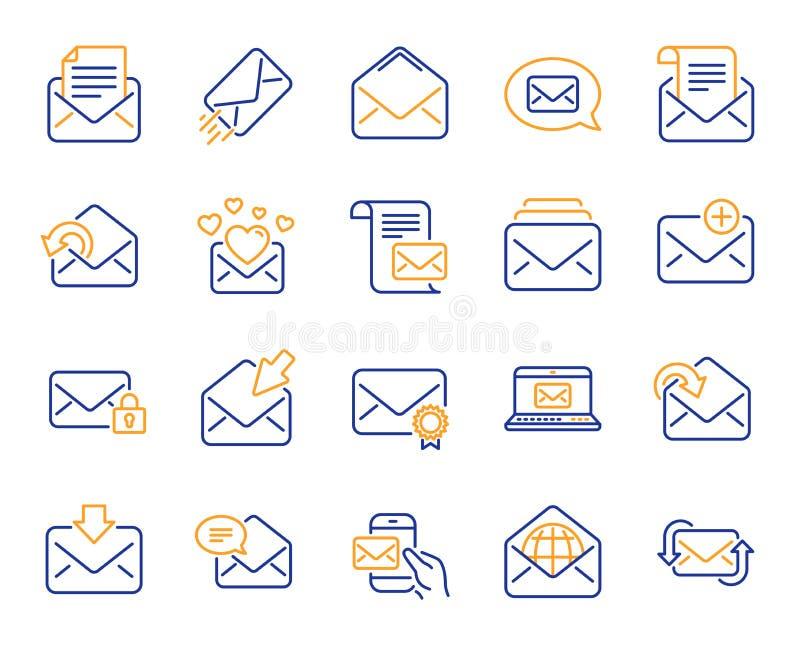 邮件消息行象 套时事通讯,电子邮件,书信 向量 皇族释放例证