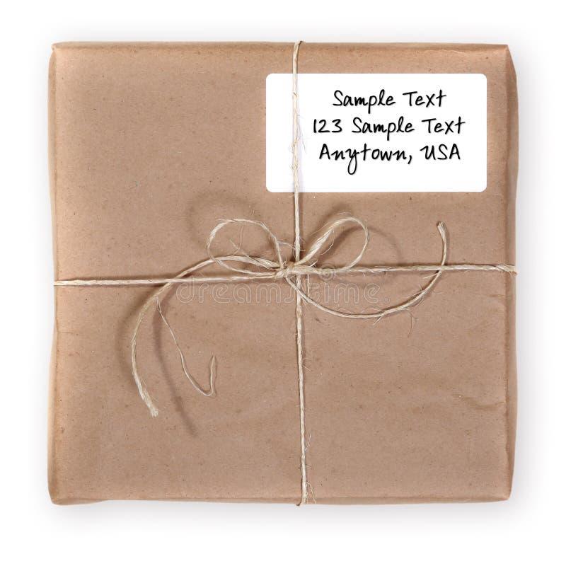 邮件程序包被发送的发运 免版税库存照片