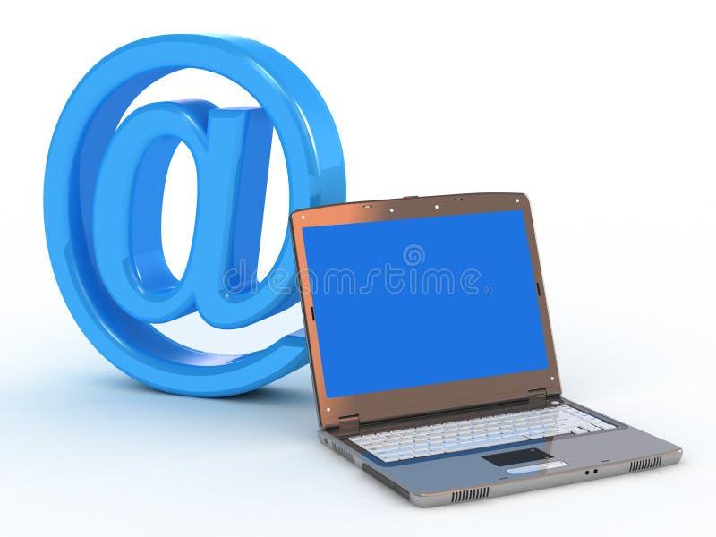 邮件笔记本符号 向量例证