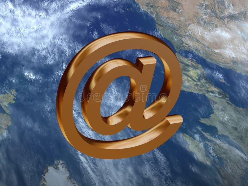 邮件符号 皇族释放例证