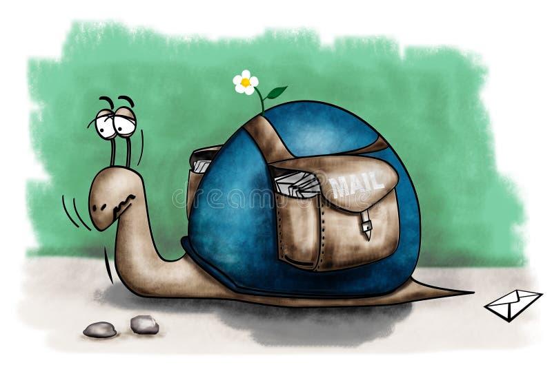 邮件蜗牛 皇族释放例证