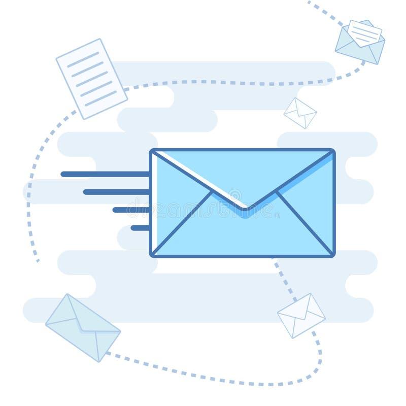 邮件象平的传染媒介例证 免版税库存图片