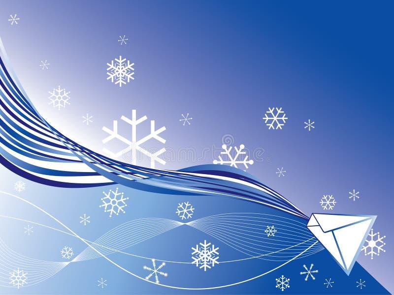 邮件雪花冬天 向量例证
