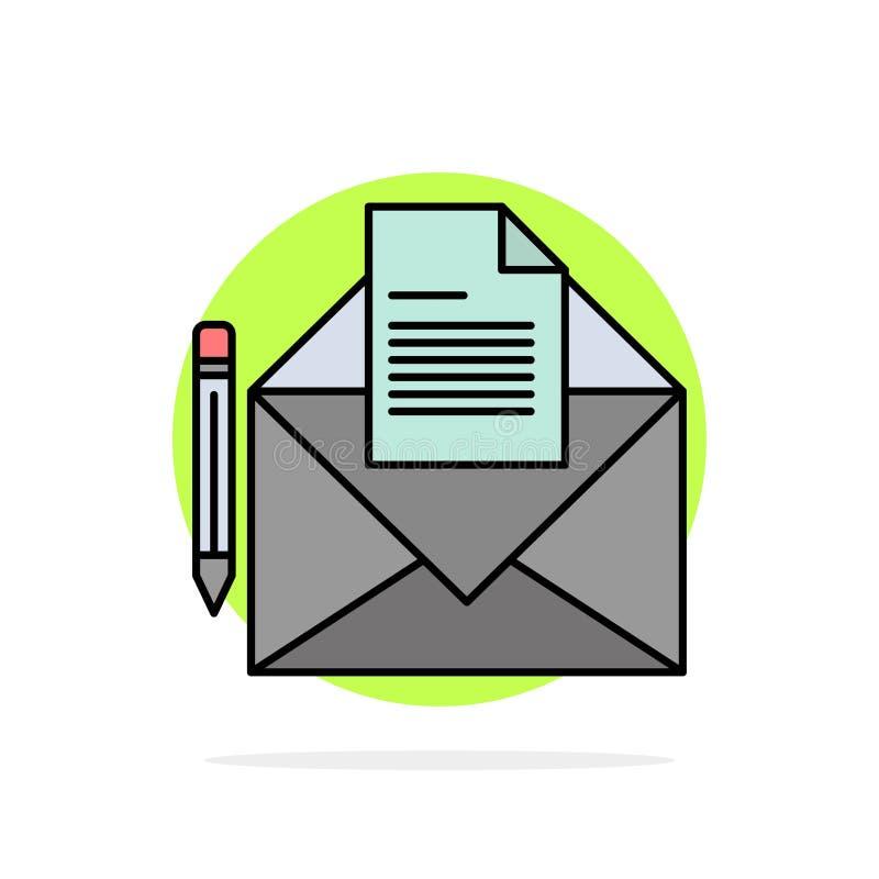 邮件,消息,电传,信件摘要圈子背景平的颜色象 皇族释放例证