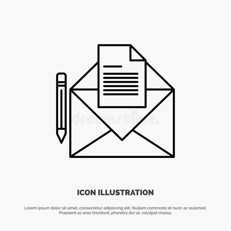 邮件,消息,电传,信件线象传染媒介 皇族释放例证