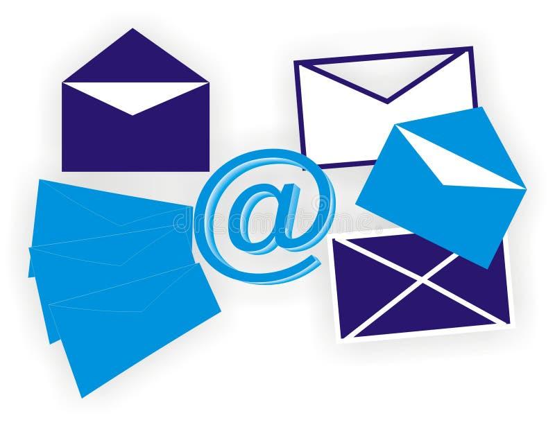 邮件 向量例证