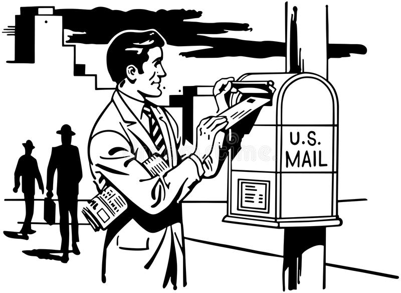 邮寄信的人 皇族释放例证