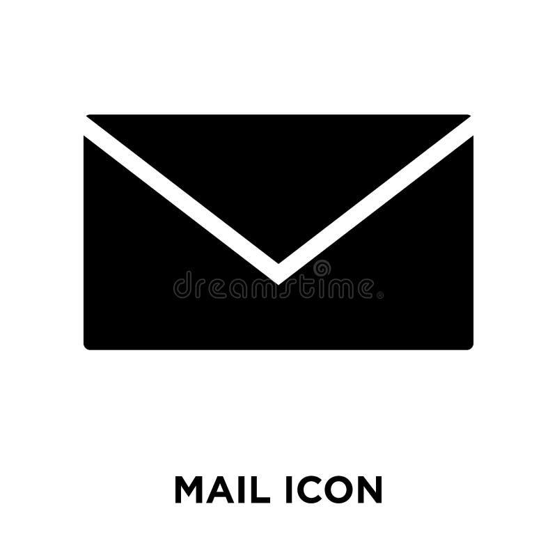 邮寄在白色背景隔绝的象传染媒介, M商标概念  免版税库存图片