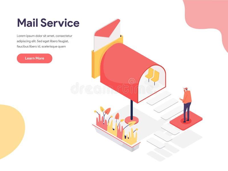 邮寄服务例证概念 网页设计的等量设计观念网站和流动网站的 r 向量例证