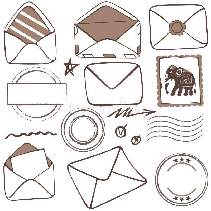 邮寄的象传染媒介  向量例证