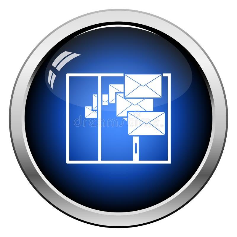邮寄的象 向量例证