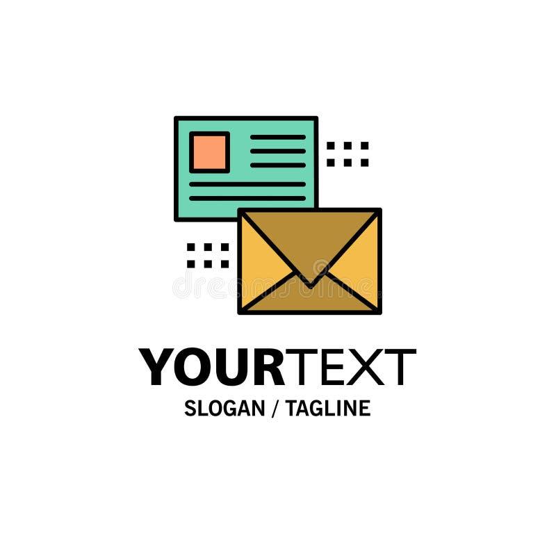 邮寄,交谈,电子邮件,名单,邮件企业商标模板 o 皇族释放例证
