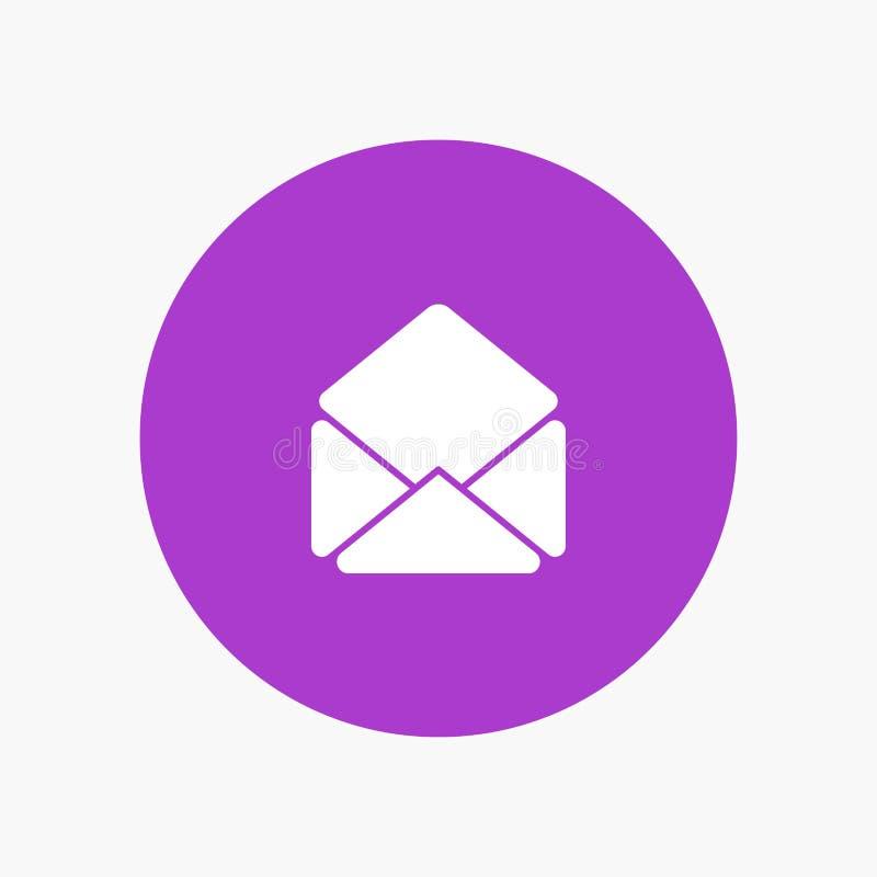 邮寄,发电子邮件,打开 向量例证