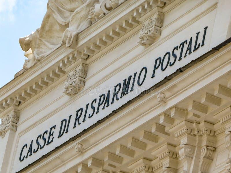 邮局储蓄银行,罗马宫殿  免版税库存照片