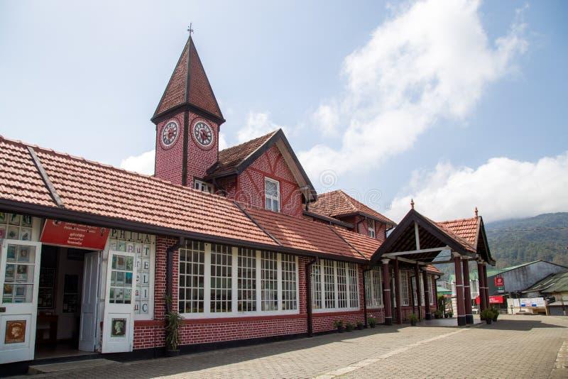邮局在努沃勒埃利耶,斯里兰卡 免版税库存照片