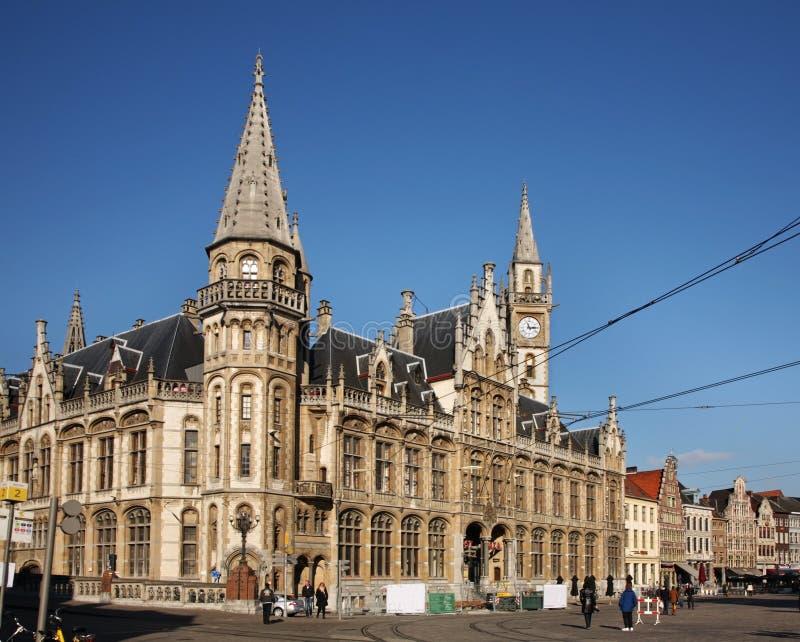 邮局在跟特 比利时 图库摄影