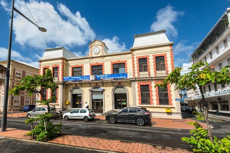 邮局大厦在法兰西堡,马提尼克岛 免版税库存照片