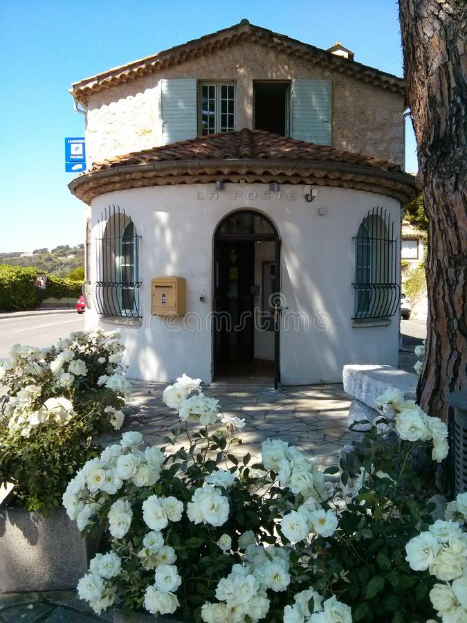 邮局,圣保罗de Vence,法国 库存照片