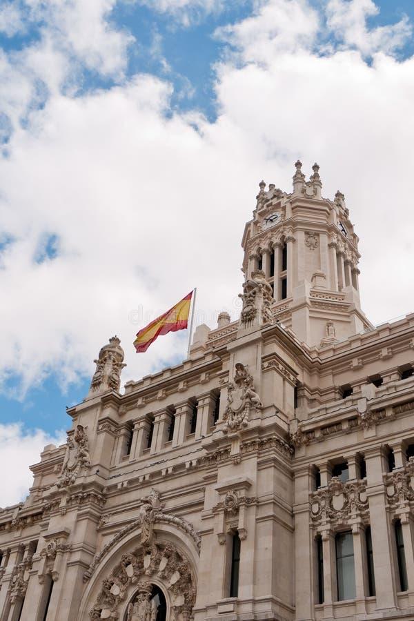 邮局,马德里,西班牙 免版税库存照片