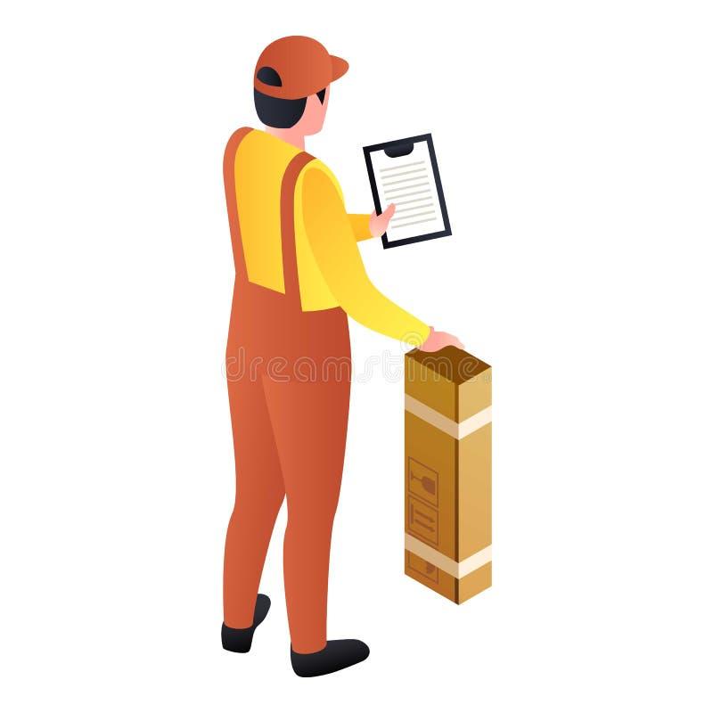 邮政人提供了小包象,等量样式 向量例证
