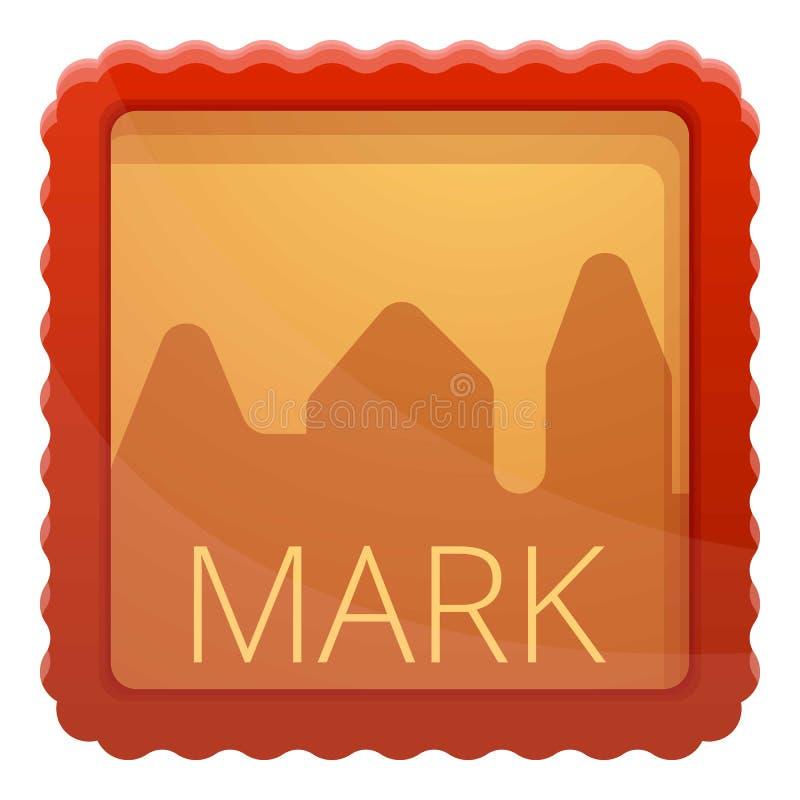 邮政标记象,动画片样式 库存例证