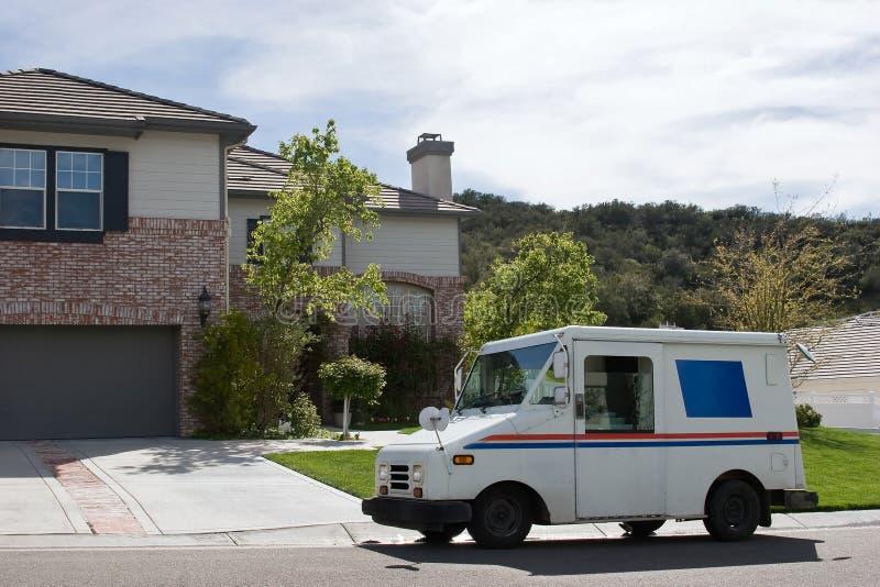 邮政的汽车 免版税库存照片