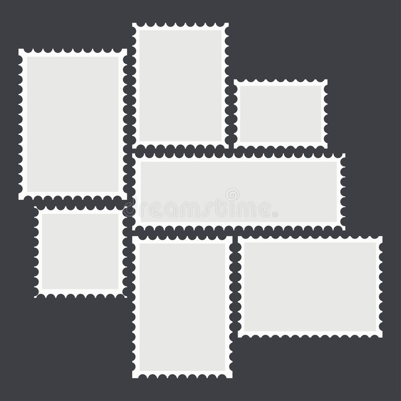 邮政空白的邮寄 库存例证