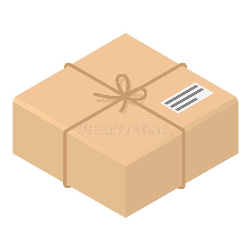 邮政纸盒箱子象,等量样式 向量例证