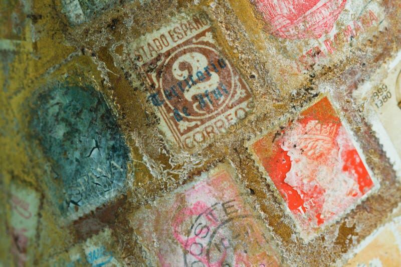 邮票世界 库存照片