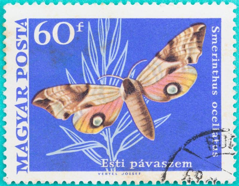邮票在匈牙利马扎尔人Posta打印了 免版税库存照片