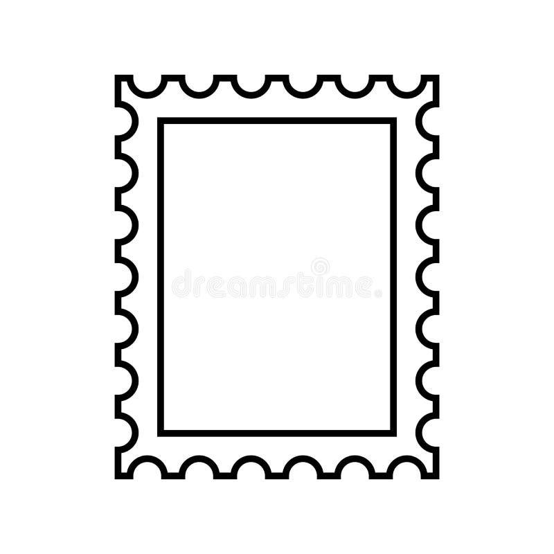 邮票概述象传染媒介eps10 邮票传染媒介标志 库存例证