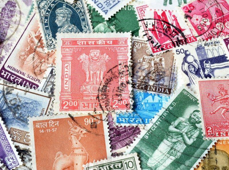 邮票的印度 免版税图库摄影