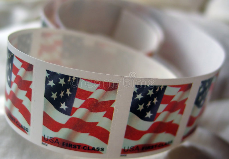 邮票美国 库存图片
