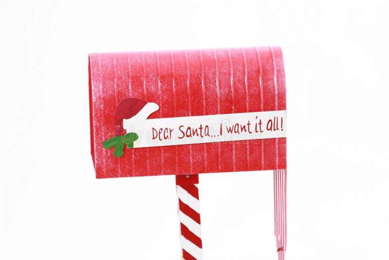 邮箱圣诞老人 库存图片
