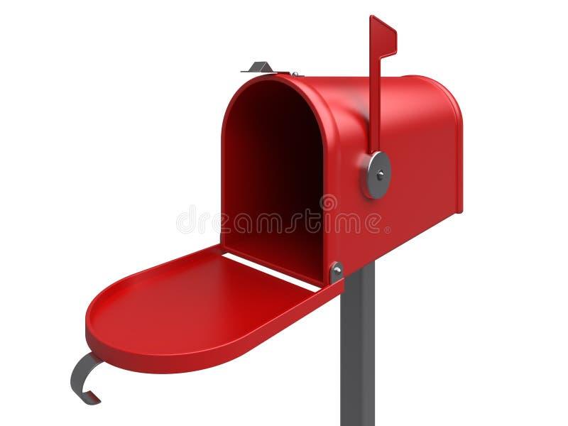 邮箱红色 皇族释放例证