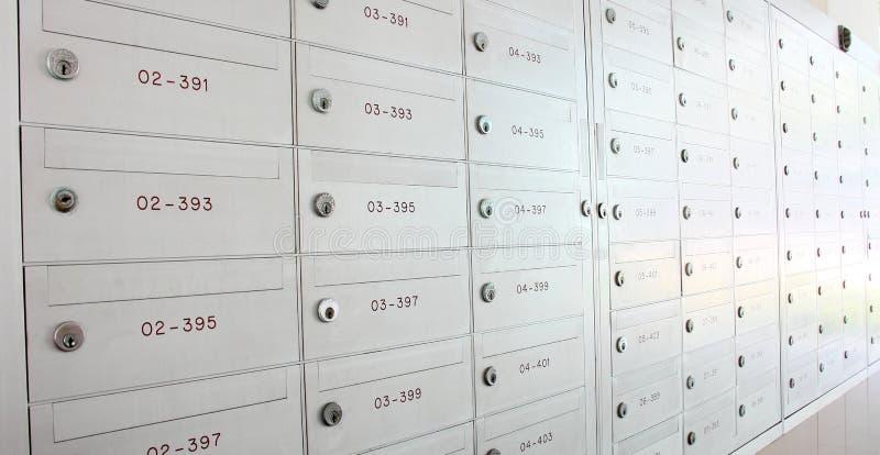 邮箱衣物柜 库存照片
