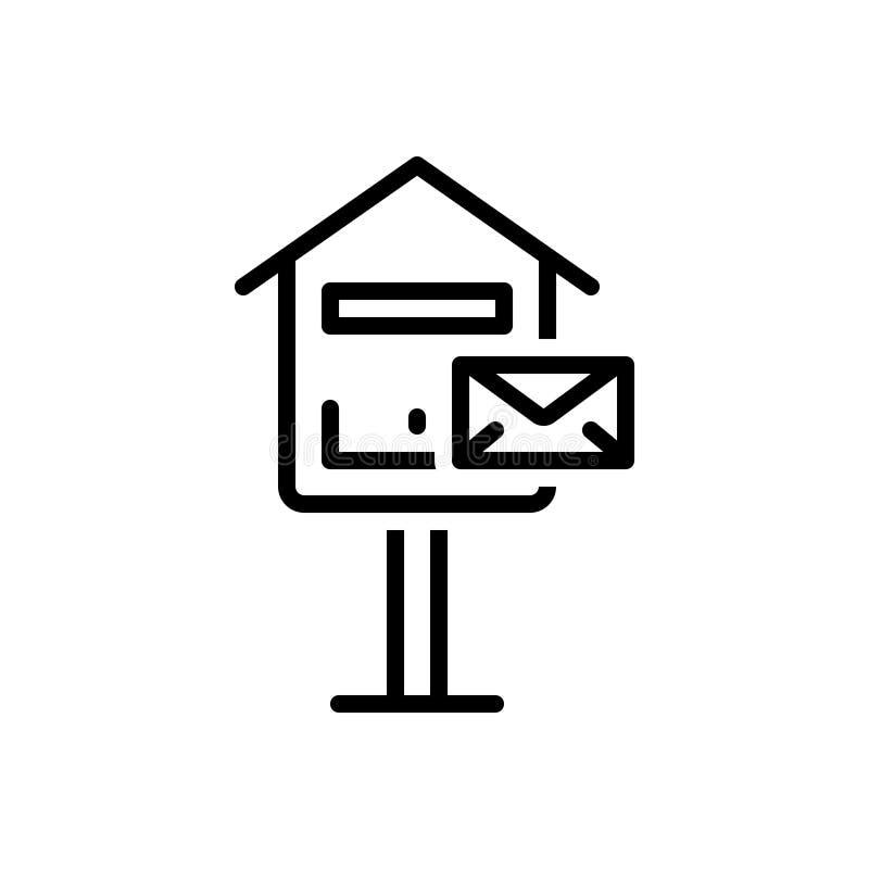 邮箱,信箱的黑线象和沟通 皇族释放例证