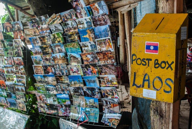 邮箱,老挝 免版税库存图片