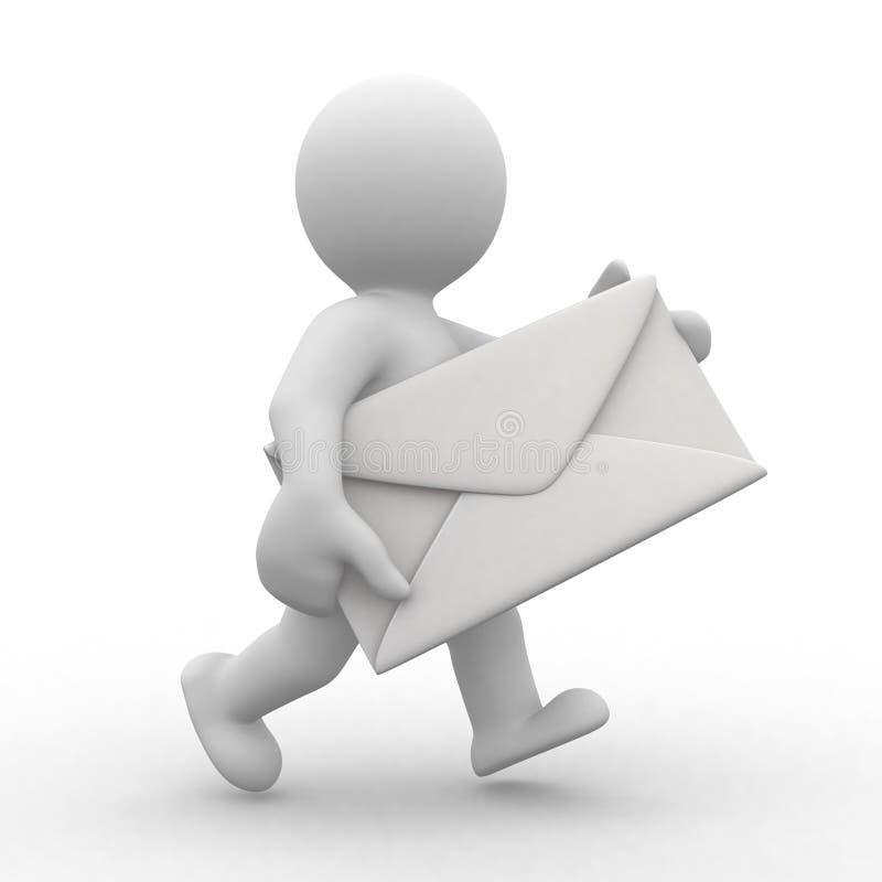 邮递员 库存例证
