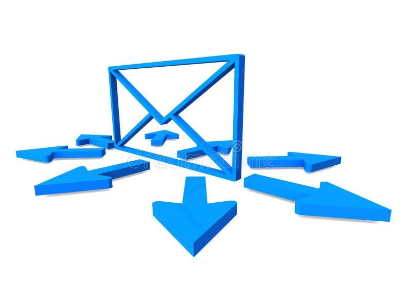 邮件交付概念 库存例证