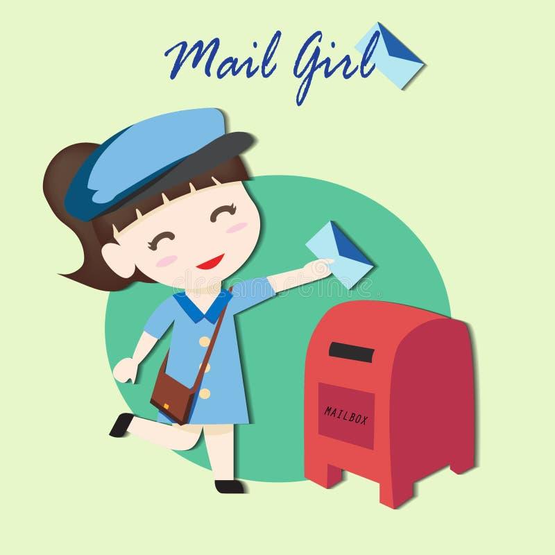 邮件女孩 免版税库存照片