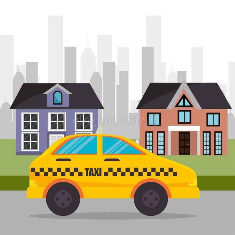 郊区小室服务镇设计 向量例证
